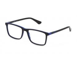 POLICE K096 0C12 SHINY BLACK/BLUE 5117 135 0